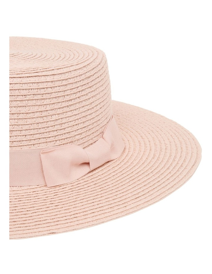 Low Crown Boater Hat - Blush image 3