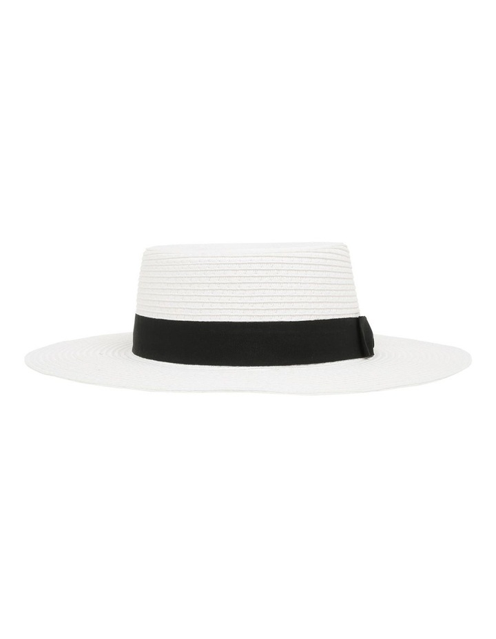 Low Crown Boater Hat - White image 1