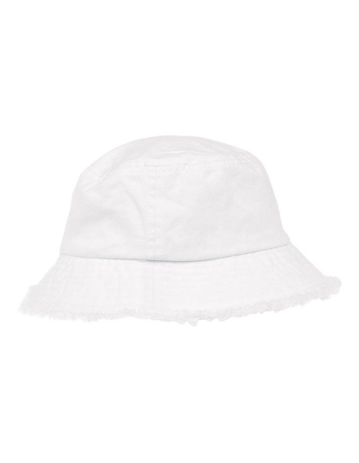 Frayed Edge Bucket Hat - White image 2