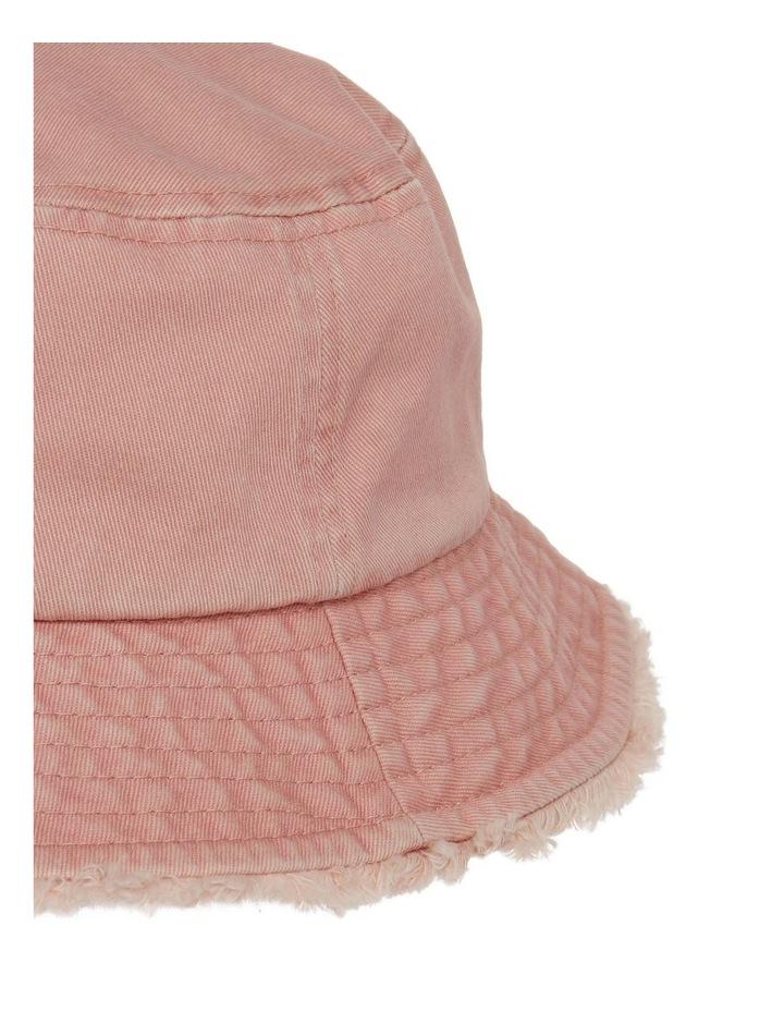 Frayed Edge Bucket Hat - Blush image 3