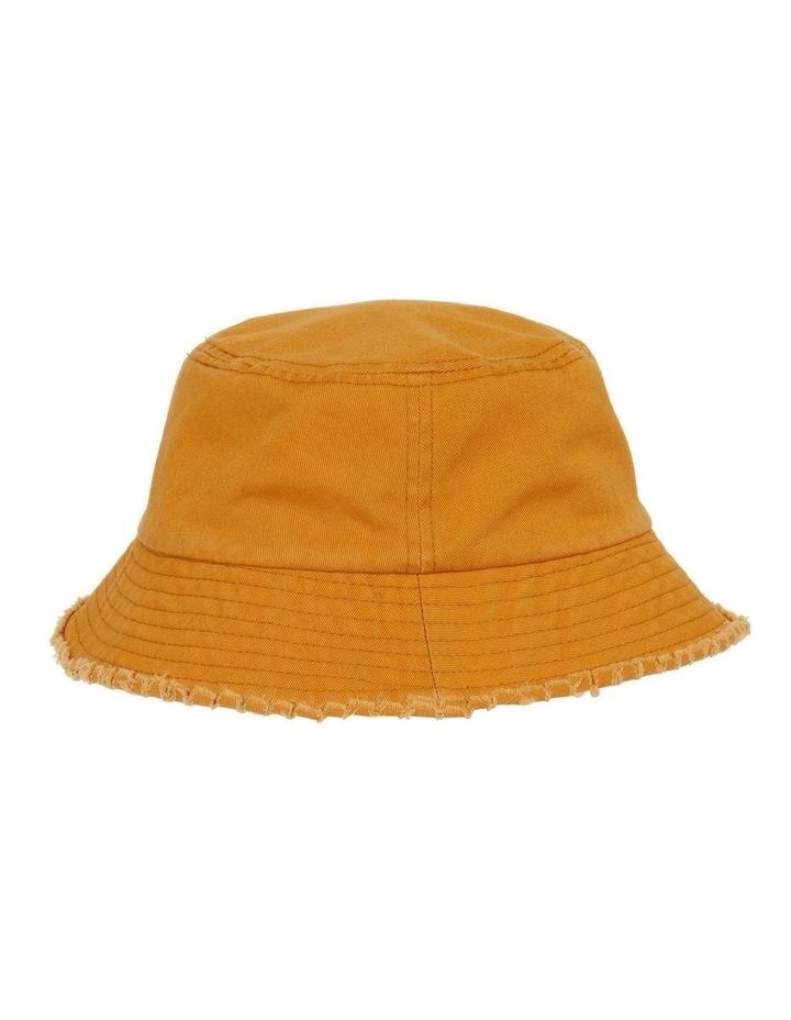 Frayed Edge Bucket Hat - Mustard image 2