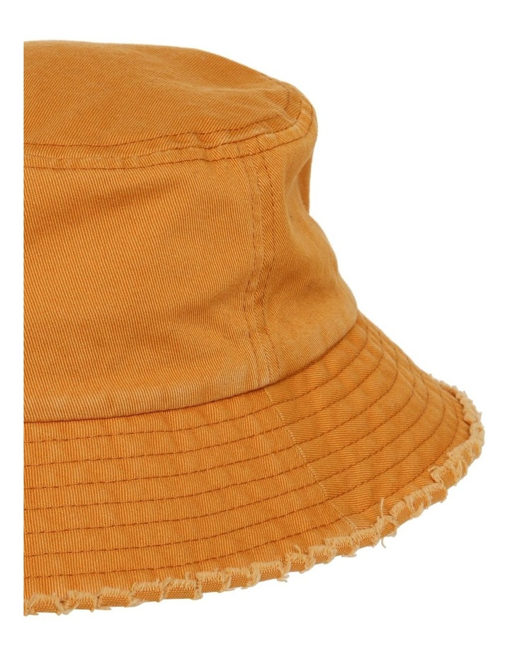 Frayed Edge Bucket Hat - Mustard image 3