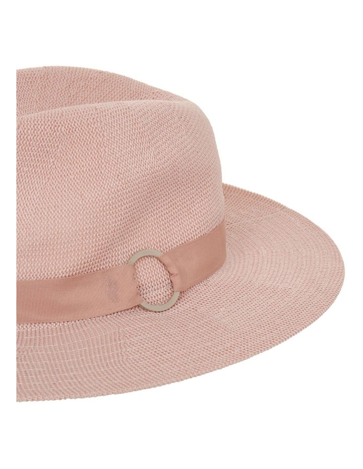 Fabric Fedora With Ring Detail Hat image 4