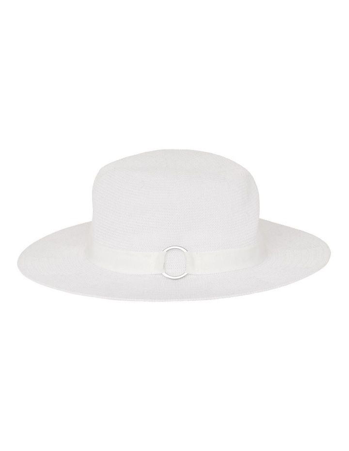 Fabric Fedora With Ring Detail Hat image 2