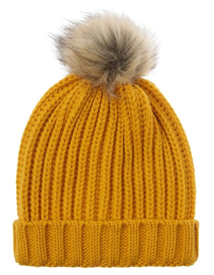 Beanie With Natural Pompom image 1