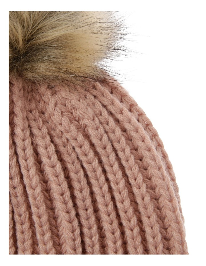 Beanie With Natural Pompom image 2