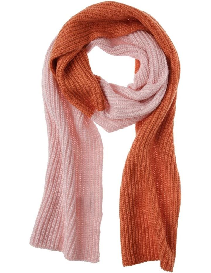 2 Tone Colour Block Knit Scarf image 1
