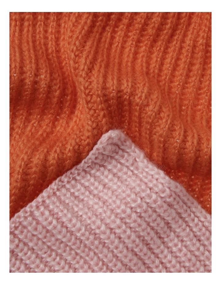 2 Tone Colour Block Knit Scarf image 2
