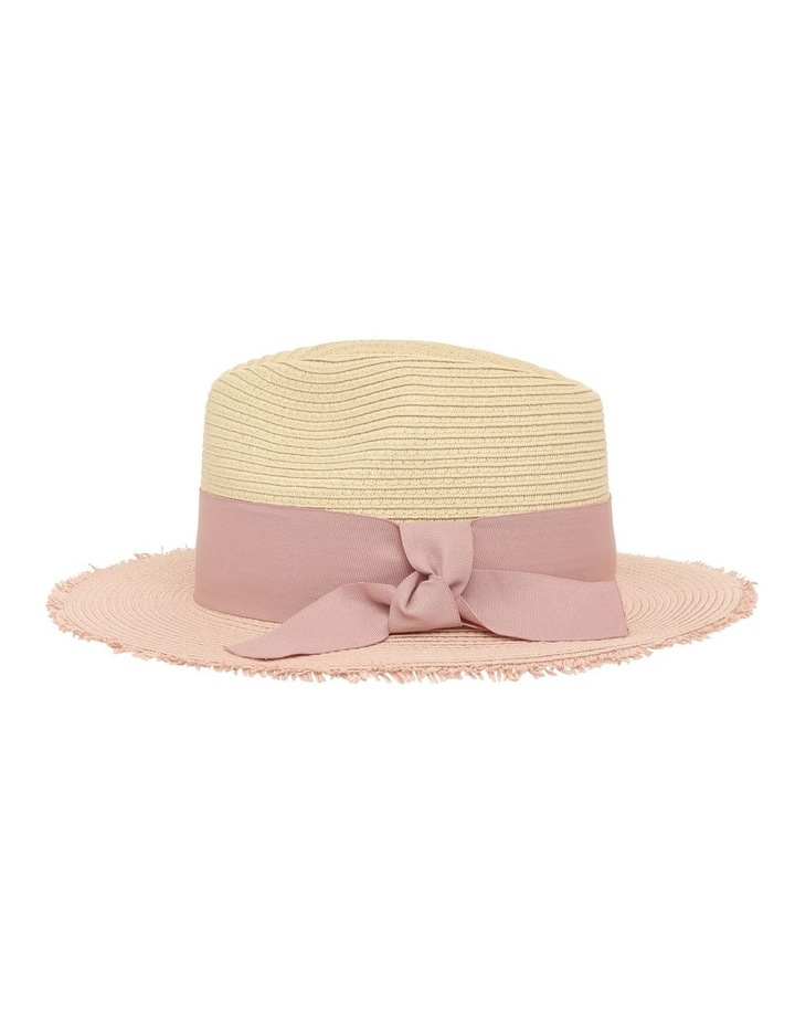 Two-Tone Fedora with Bow Detail image 2