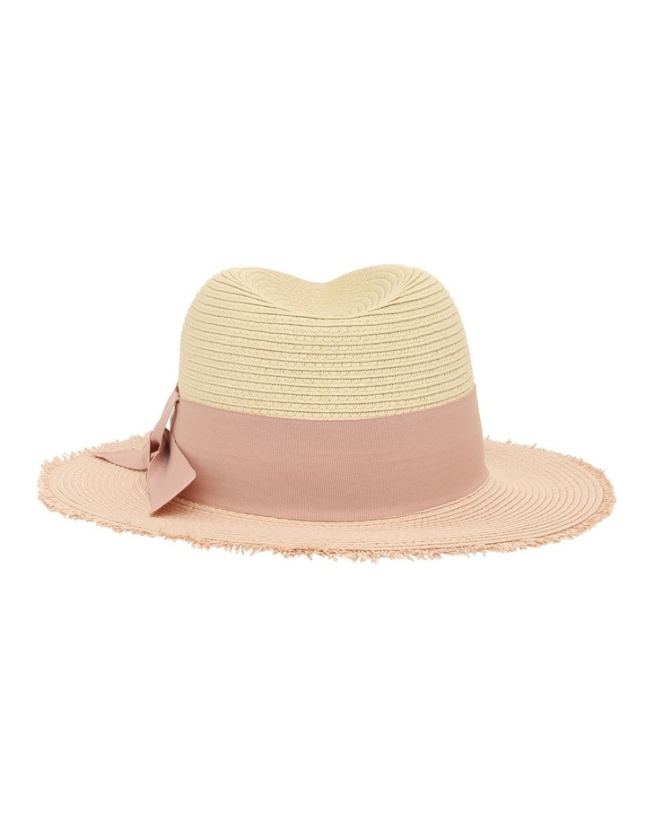 Two-Tone Fedora with Bow Detail image 3