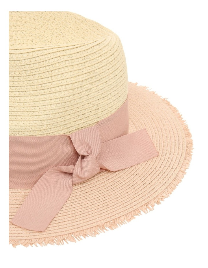 Two-Tone Fedora with Bow Detail image 4