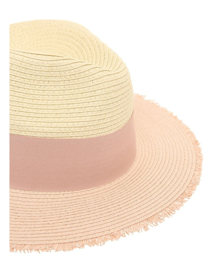 Two-Tone Fedora with Bow Detail image 5