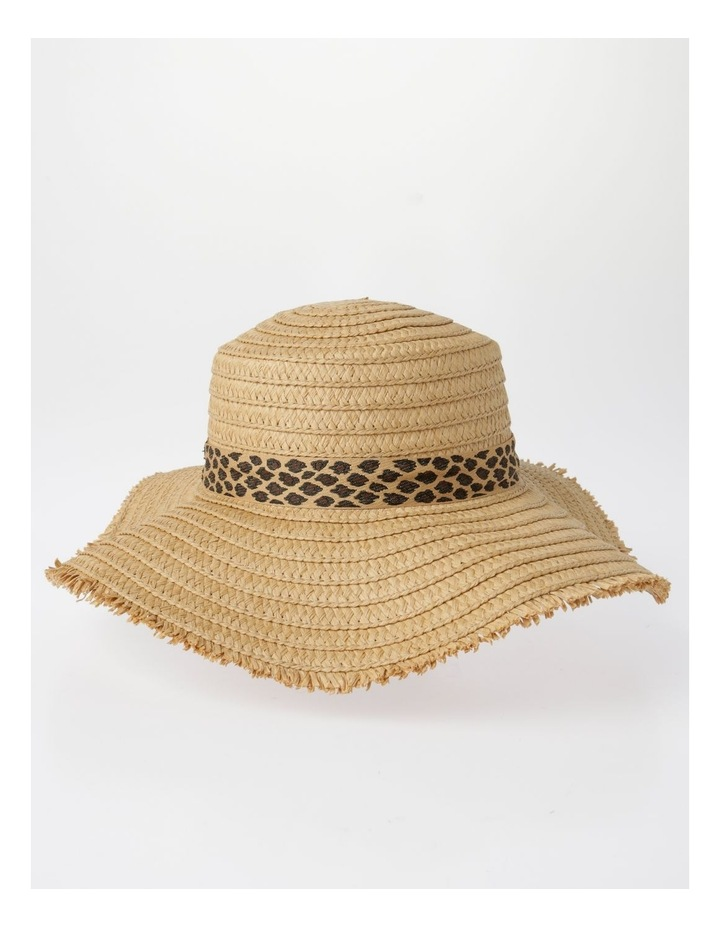 MSH1480 Fringe Edge Boater W/ Leopard Trim Summer Hats image 2