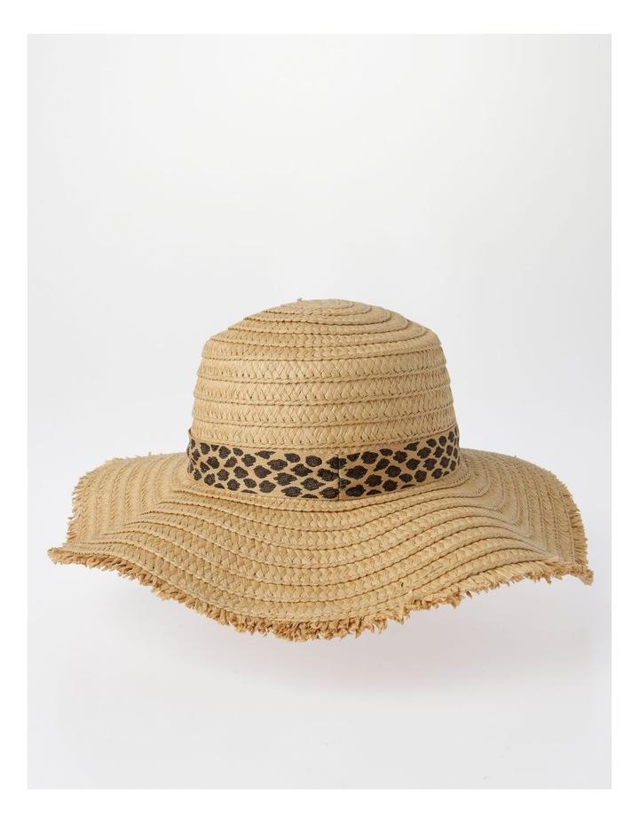 MSH1480 Fringe Edge Boater W/ Leopard Trim Summer Hats image 3