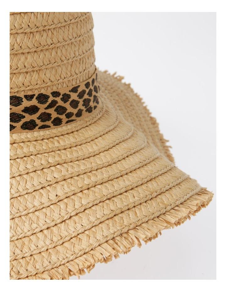 MSH1480 Fringe Edge Boater W/ Leopard Trim Summer Hats image 4