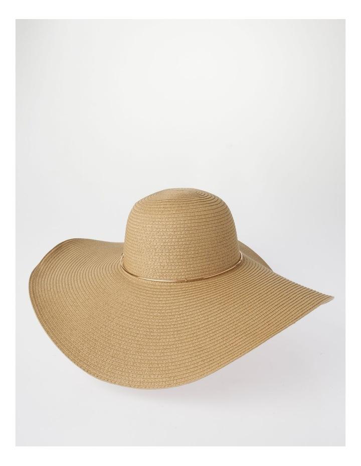 MSH1523 Large Floppy Brim W/ Metal Trim Summer Hats image 2