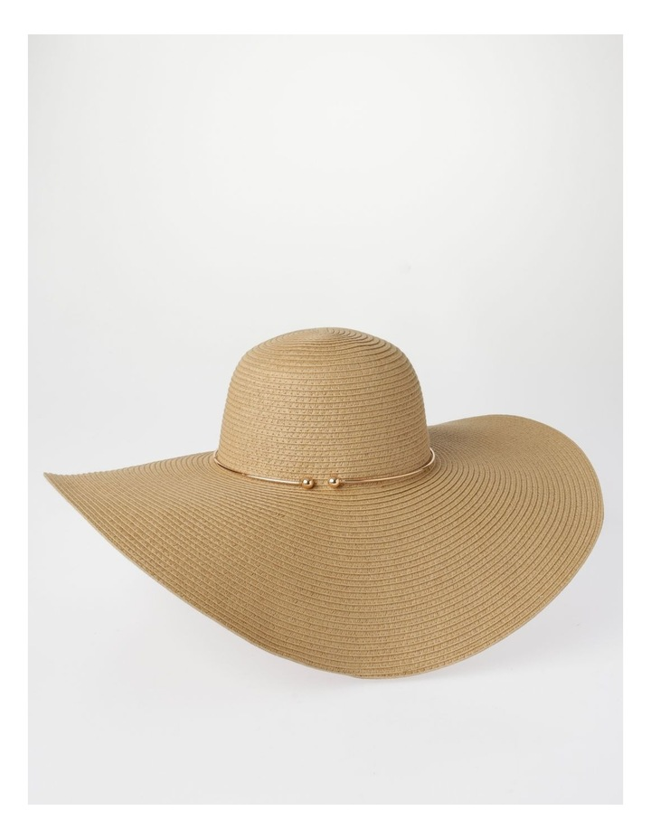 MSH1523 Large Floppy Brim W/ Metal Trim Summer Hats image 3