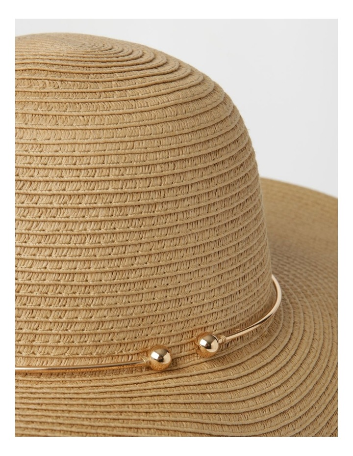 MSH1523 Large Floppy Brim W/ Metal Trim Summer Hats image 4