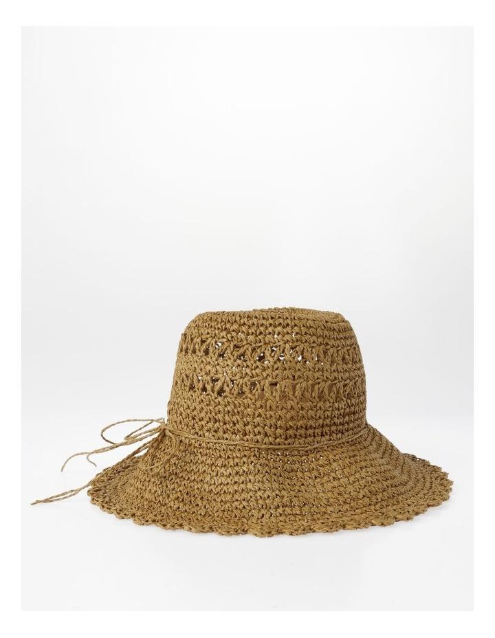 Scalloped Edge Straw Bucket Hat Summer Hat image 2