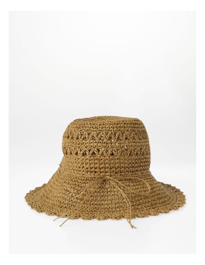 Scalloped Edge Straw Bucket Hat Summer Hat image 3