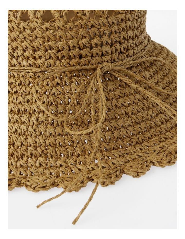 Scalloped Edge Straw Bucket Hat Summer Hat image 4