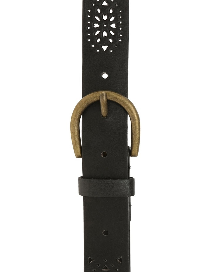 Black Lazer Cut Belt image 1