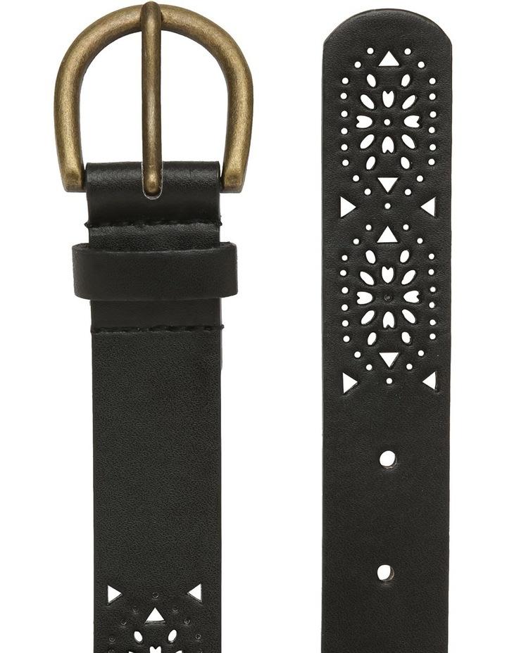 Black Lazer Cut Belt image 2