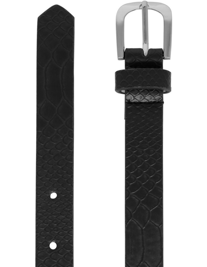 2 Pack Skinny Croc & Leopard Belt image 2