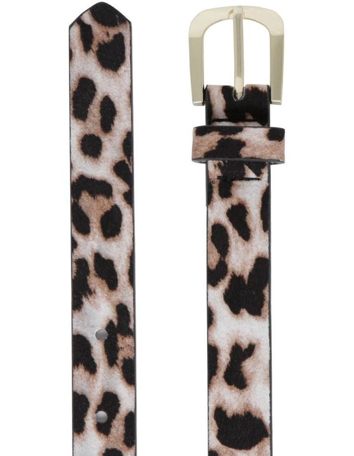 2 Pack Skinny Croc & Leopard Belt image 3