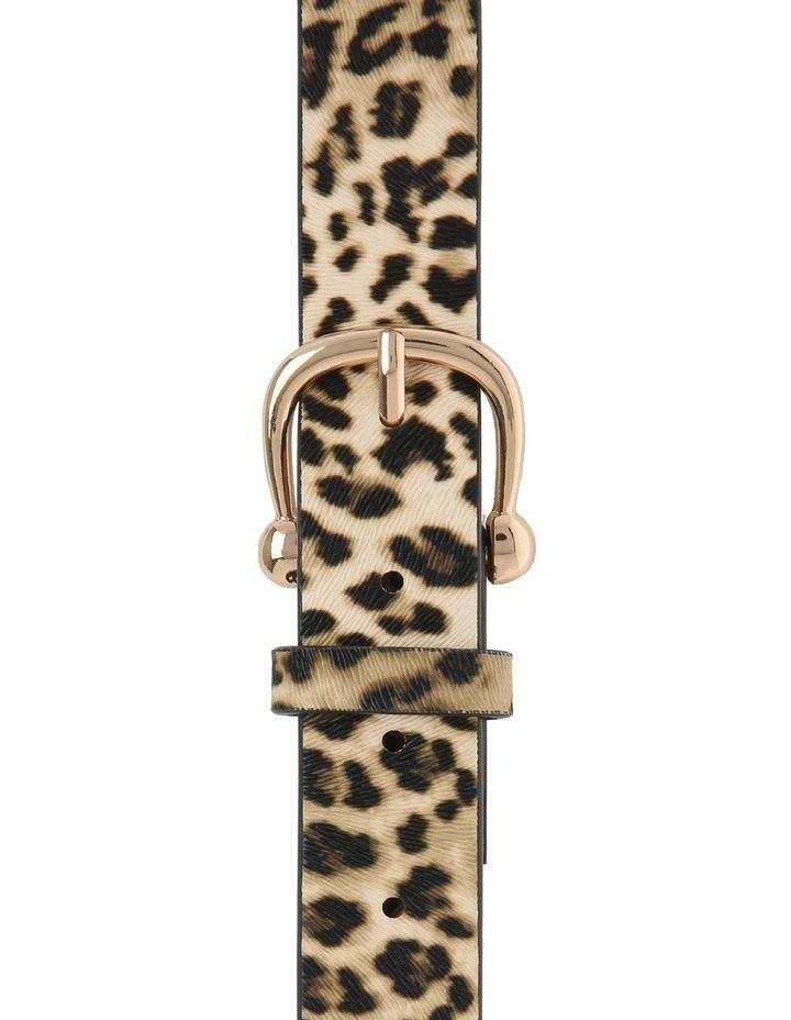 Leopard Print Basic Belt image 1