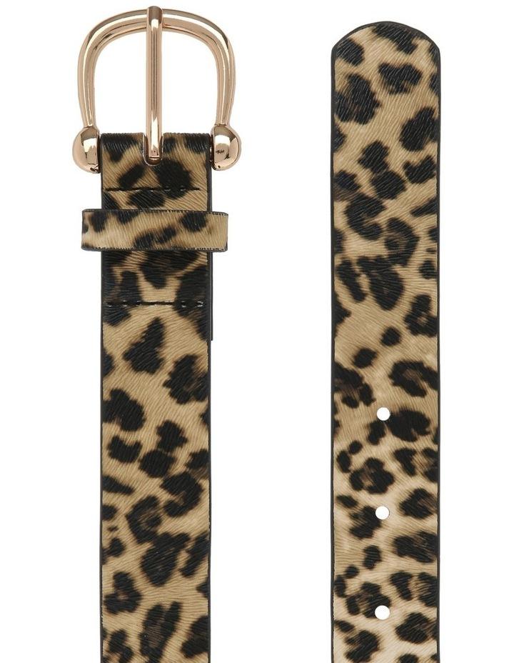 Leopard Print Basic Belt image 2