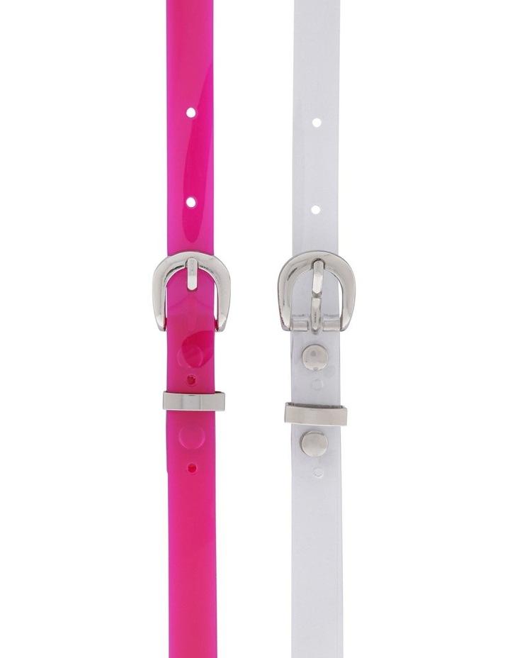 Neon Skinny Belt - Pack of 2 image 1