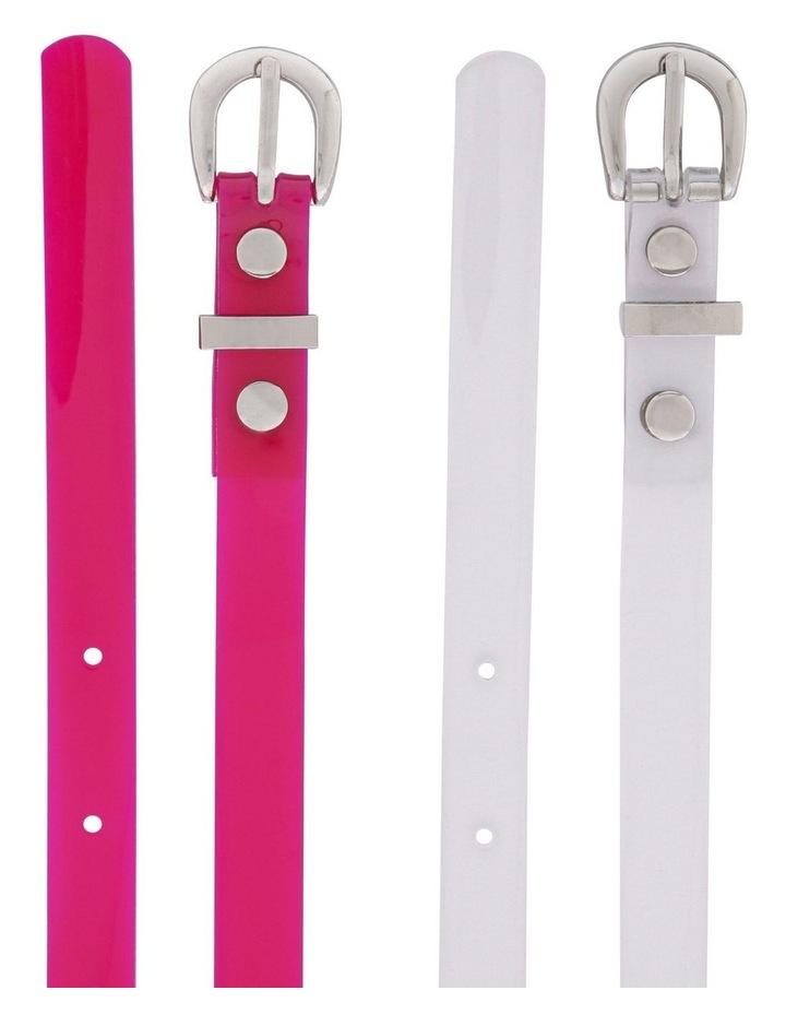 Neon Skinny Belt - Pack of 2 image 2