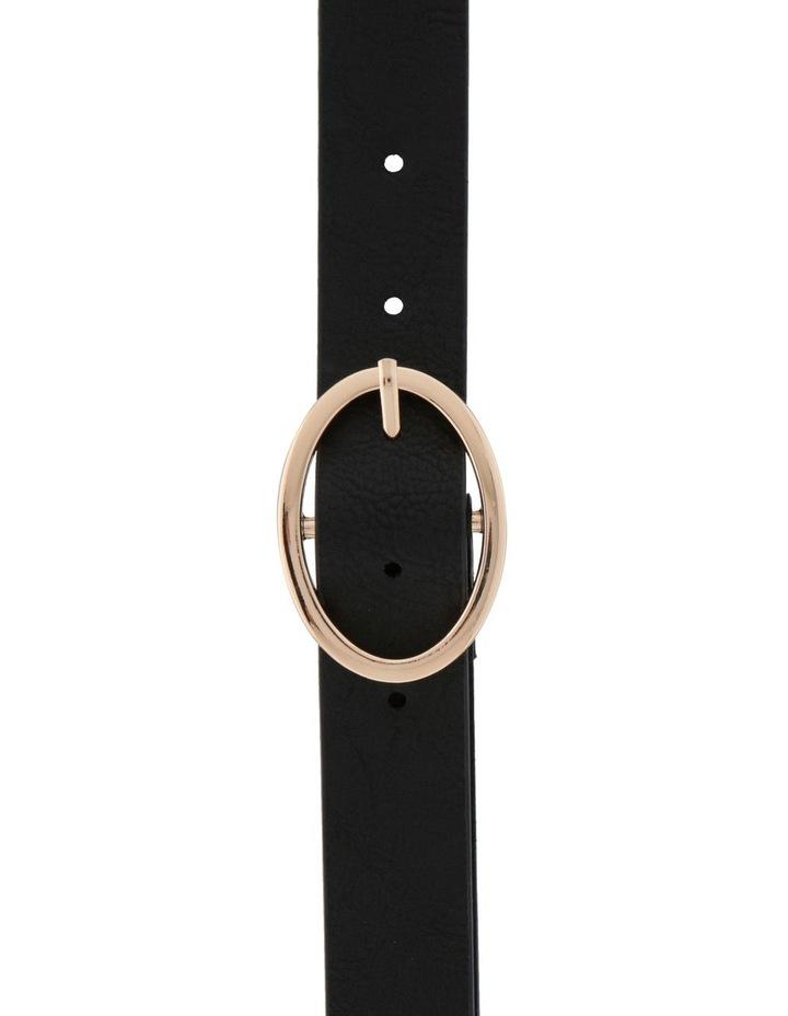 Oval Buckle Belt - Black image 1