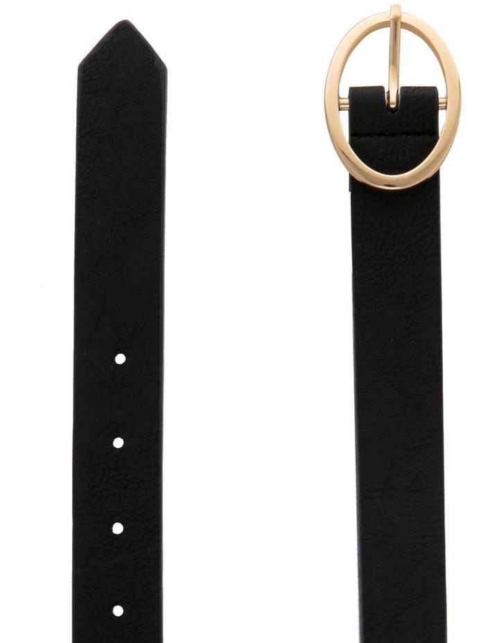 Oval Buckle Belt - Black image 2