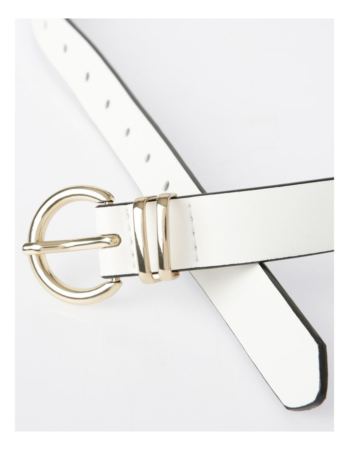 DTP19-P631-23A Gold Buckle W/ Dual Keeper Belt image 3