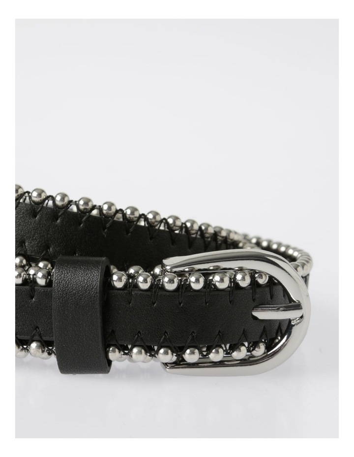 Silver Buckle Belt with Beaded Edge image 2