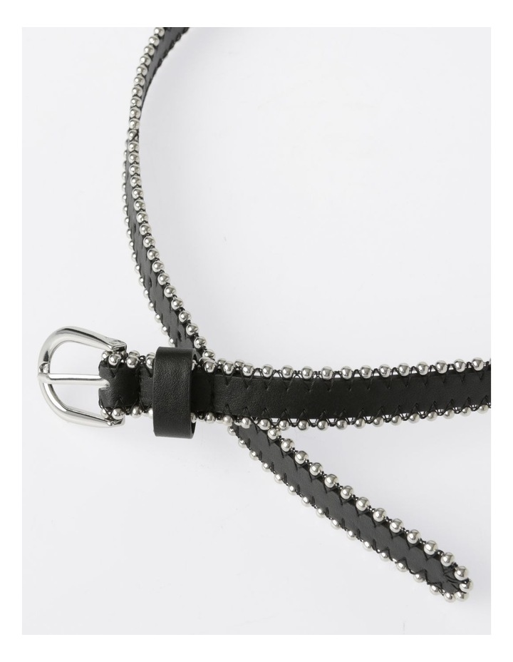 Silver Buckle Belt with Beaded Edge image 3