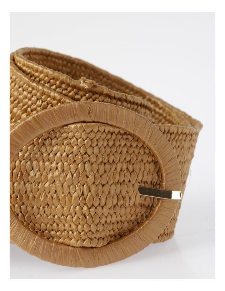Natural Buckle Weave Belt image 2