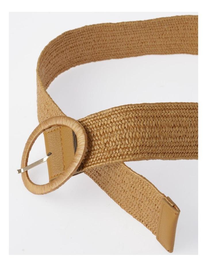 Natural Buckle Weave Belt image 3