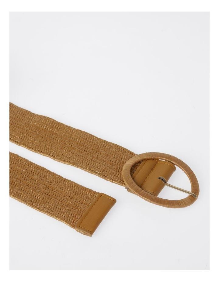Natural Buckle Weave Belt image 4