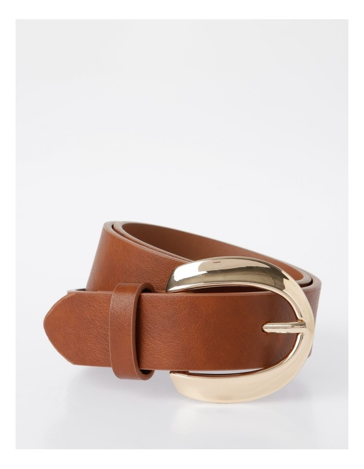 Oversized Gold Buckle With Twist Belt image 1