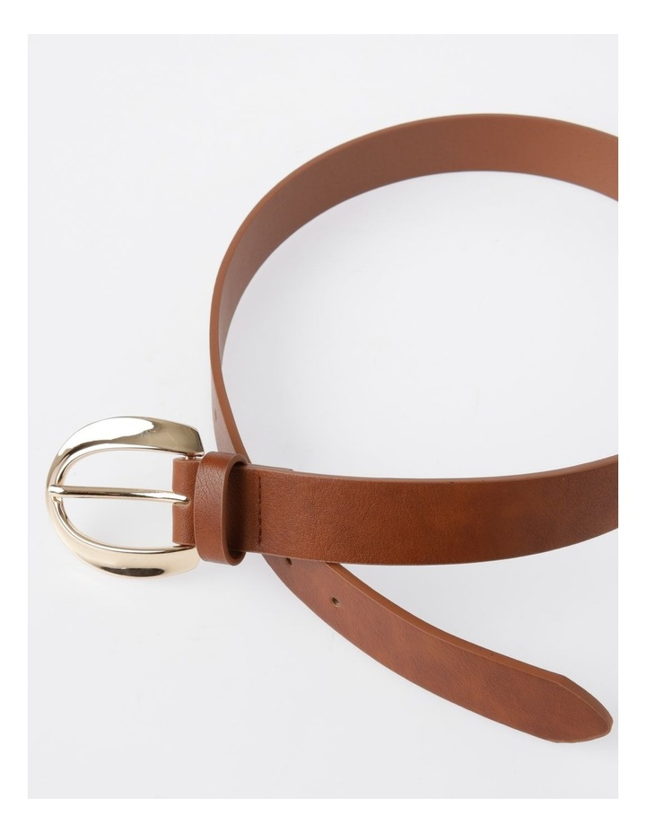 Oversized Gold Buckle With Twist Belt image 3