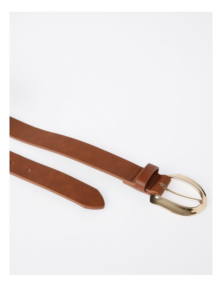 Oversized Gold Buckle With Twist Belt image 4
