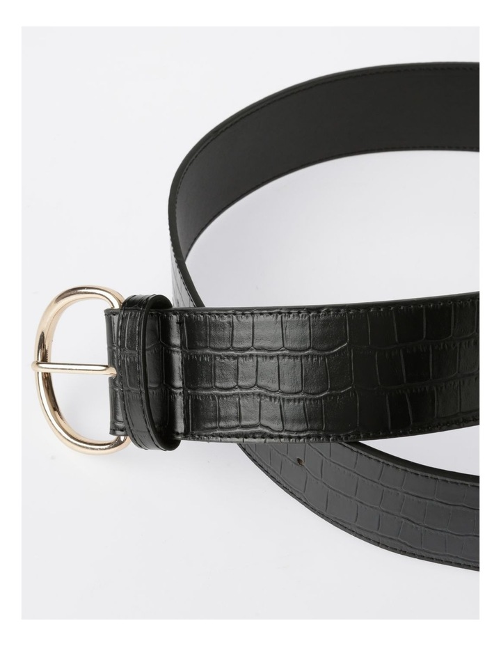 Wide Croc Belt image 3