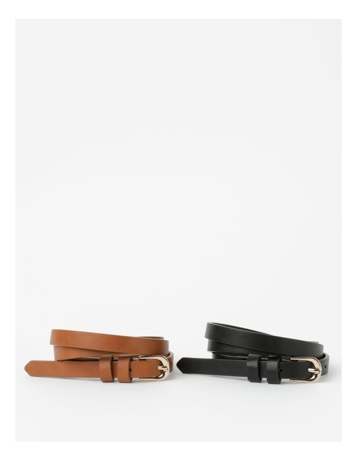 Skinny Belt Plain 2Pk Belt image 1