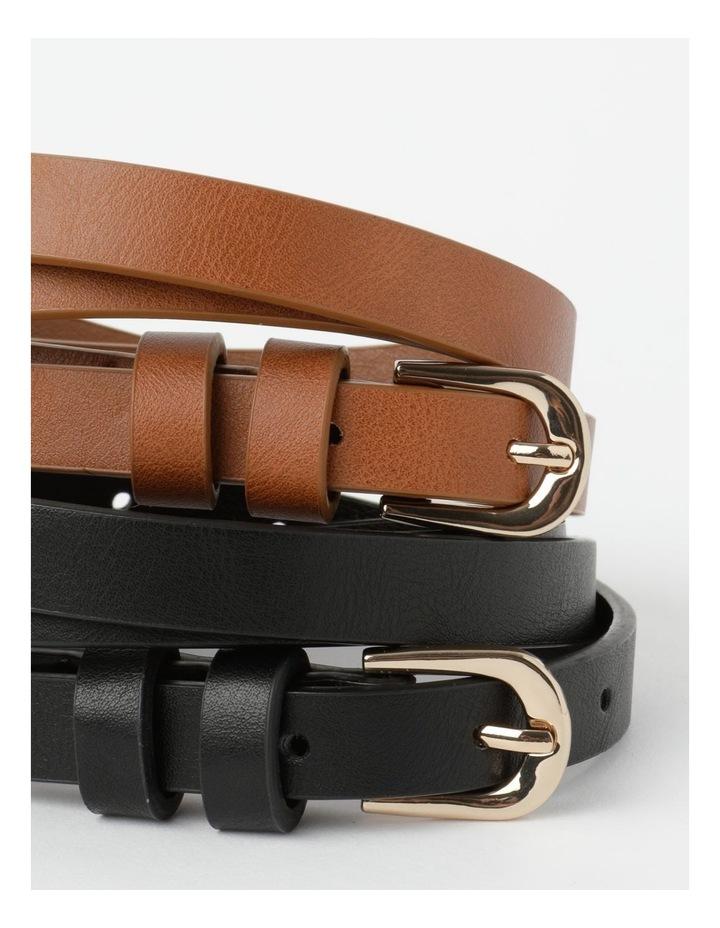 Skinny Belt Plain 2Pk Belt image 2