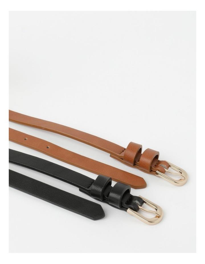 Skinny Belt Plain 2Pk Belt image 3