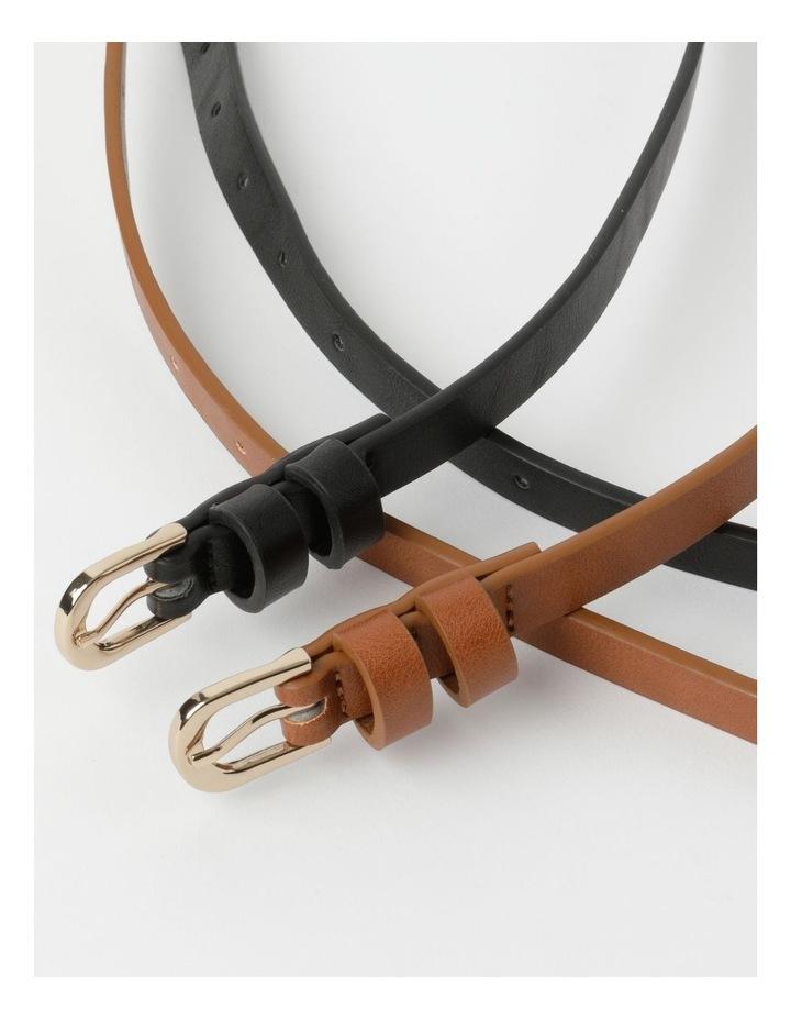 Skinny Belt Plain 2Pk Belt image 4
