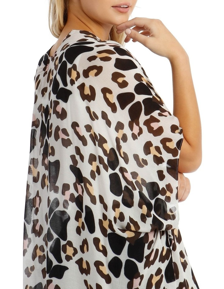 Animal Print Wrap Kaftan image 3